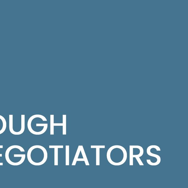 Tough Negotiators
